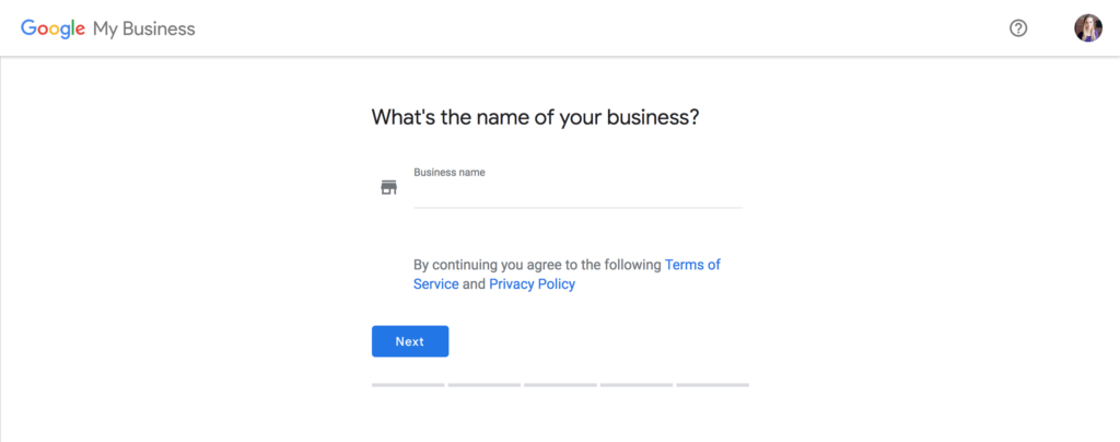 New Google Business Listing