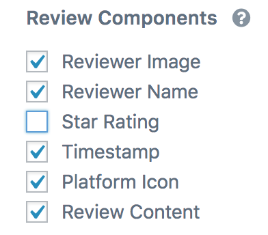review components - star rating deactivated