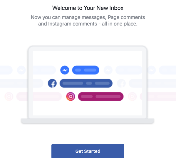 Welcome to new inbox for Facebook