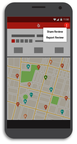Yelp - Mobile Review Reporting