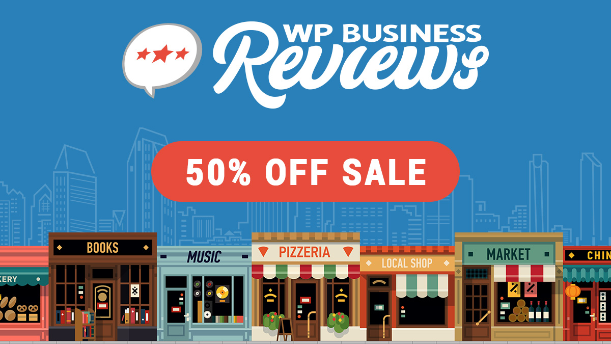 50% off WP Business Reviews for Cyber Monday