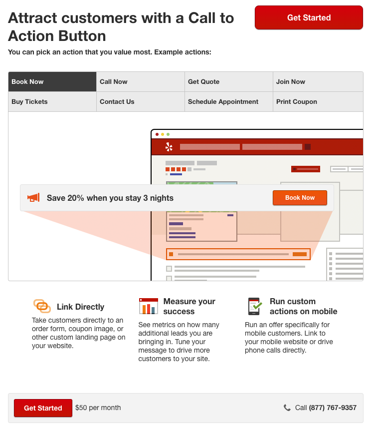 Yelp Biz Call to Action Setup