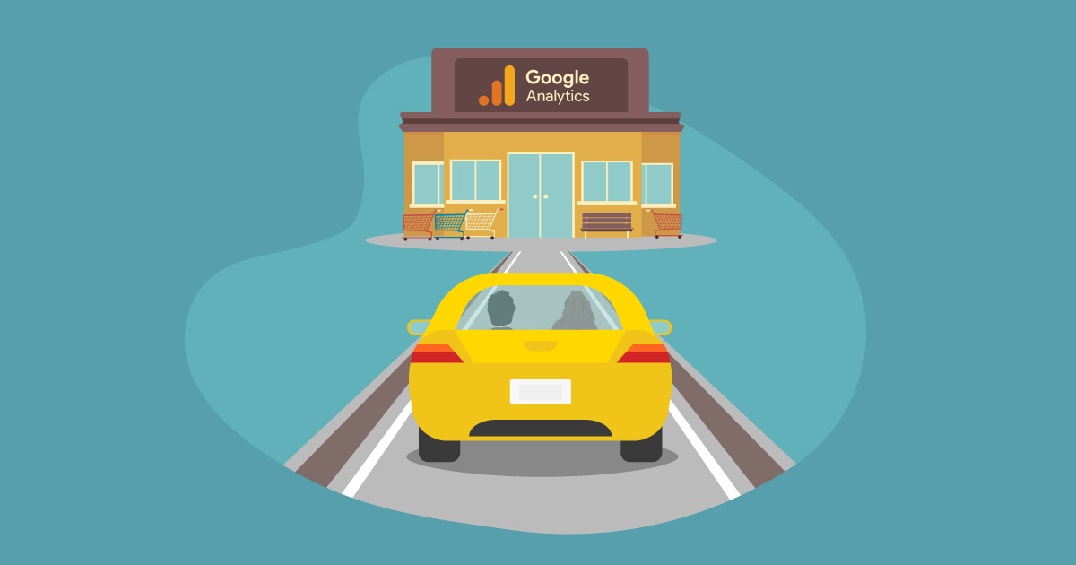 Car driving toward Google Adwords Store