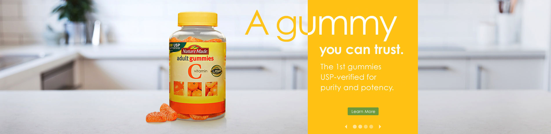 A gummy you can trust. The first gummies USP-verified for purity and potency.